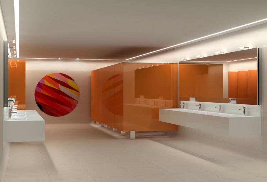Beretta Associati Linate bagno arancio 7